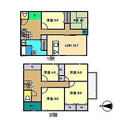 [一戸建] 高知県高知市高須3丁目 の賃貸【/】の間取り
