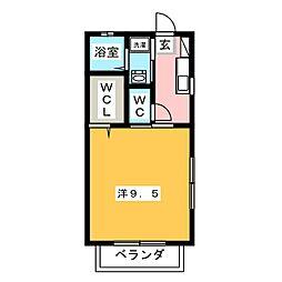 メゾン ドゥ ソレイユI[1階]の間取り