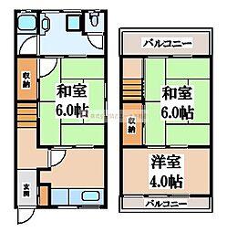 [テラスハウス] 大阪府堺市北区金岡町 の賃貸【/】の間取り