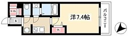 ADVANCE NAGOYA MOXIE 11階1Kの間取り
