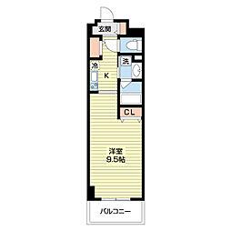 DAIWA RESIDENCE IBARAKI 10階ワンルームの間取り