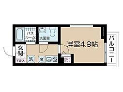 フェリーチェ中野新橋[201号室]の間取り