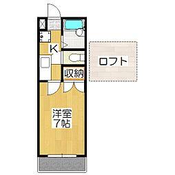 モンエスパシオ松ヶ崎[205号室]の間取り