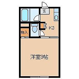 久保田ハイツ2号館[102号室]の間取り