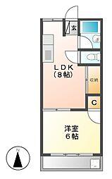 大野マンション[5階]の間取り