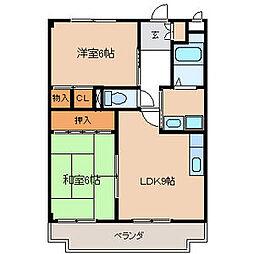 ブラウンハウス[2階]の間取り