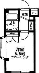 埼玉県越谷市大字大房の賃貸マンションの間取り