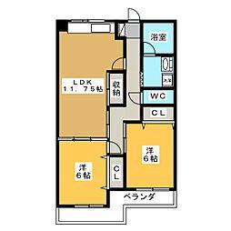 ホクホウマンション[3階]の間取り