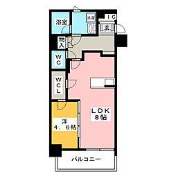 レオーネ台東三ノ輪 2階1LDKの間取り