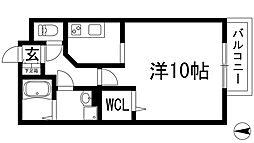兵庫県川西市日高町の賃貸マンションの間取り