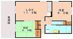 セジュ−ル・フォ−レⅡ[1階]の間取り