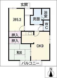 ライフハイツ[2階]の間取り