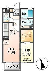 豊田 弐番館[1階]の間取り
