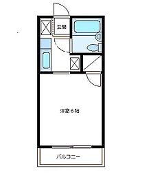 コテージ戸塚[1階]の間取り