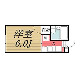 千葉県千葉市若葉区桜木8丁目の賃貸アパートの間取り