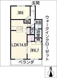 LA LUNA[2階]の間取り