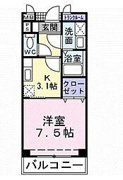 サングレイスII[2階]の間取り