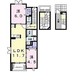 セレノカーサ[3階]の間取り