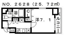 ポルト・ボヌール四天王寺夕陽ヶ丘ミラージュ[11階]の間取り