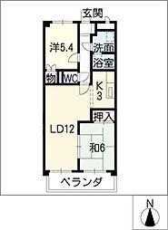 メゾンドヨサミA[1階]の間取り