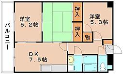 フレセント21[3階]の間取り