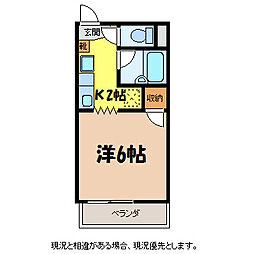 なかみちハイツ[1階]の間取り