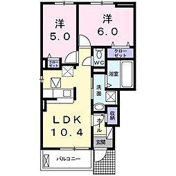 上野町アパート A棟[0101号室]の間取り