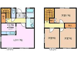 [テラスハウス] 三重県桑名市新西方3丁目 の賃貸【/】の間取り