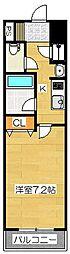 ピュアドームエクサイト博多[2階]の間取り