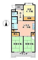 レジデンス清里[3階]の間取り