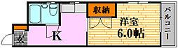 キュービック30[5階]の間取り