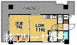 ロイヤル神屋[13階]の間取り