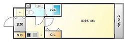 ファミーユ千里山西[2階]の間取り