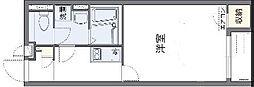 JR阪和線 東岸和田駅 徒歩26分の賃貸アパート 2階1Kの間取り