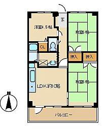 レジデンス新居[405号室]の間取り