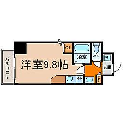愛知県名古屋市中村区名駅南2の賃貸マンションの間取り