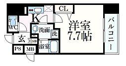 JR東海道・山陽本線 元町駅 徒歩9分の賃貸マンション 3階1Kの間取り