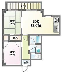 ウッディハイツ[1階]の間取り