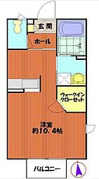 メゾンAMO[103号室]の間取り