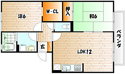 グランドソレーユS[2階]の間取り