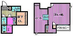 埼玉県さいたま市見沼区新堤の賃貸アパートの間取り