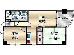 サンハイツ1[4階]の間取り