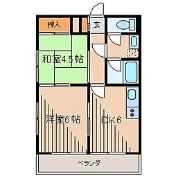 ハイツサガミ[3階]の間取り
