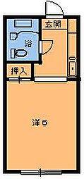 エステート都賀[201号室]の間取り