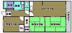パークサイド南貴望ヶ丘[1階]の間取り