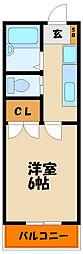 兵庫県明石市大久保町八木の賃貸アパートの間取り