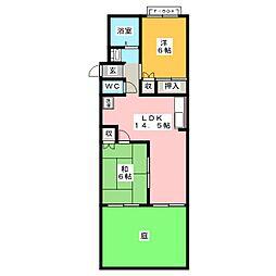 シンサフラン[1階]の間取り