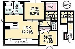 アルソーレ南斎院A棟[2階]の間取り