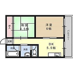 マンションサンプラザI[1階]の間取り