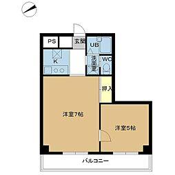 新潟県新潟市中央区鐙2丁目の賃貸マンションの間取り